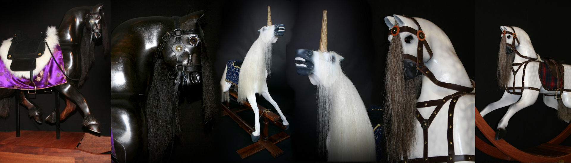 Images of 3 of Delfryn Rocking Horses Custom Horses